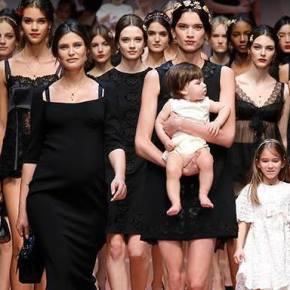 """Dolce & Gabbana homenageia as """"mammas"""" italianas no desfile inverno 2015/16 da Semana de Moda deMilão"""