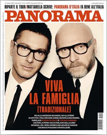 df8cfe26037bc Estilistas da Dolce   Gabbana defendem a família tradicional ...