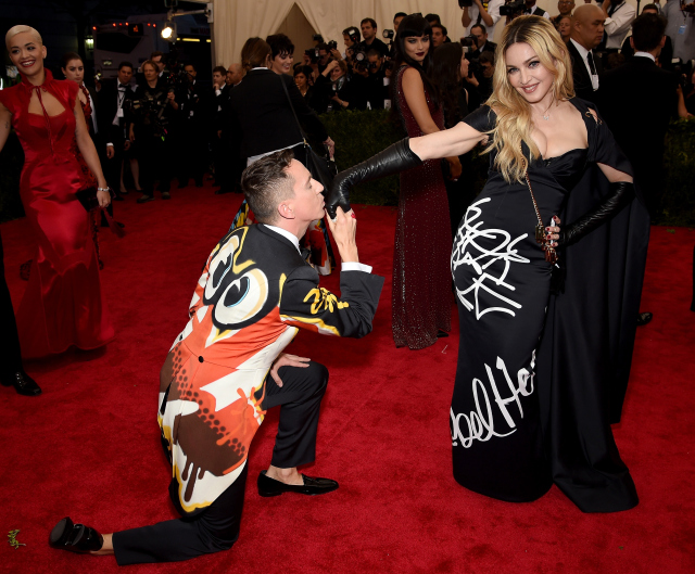 NEW YORK, NY - MAY 04: Jeremy Scott and Madonna attend the