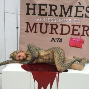 PETA compra ações da Hermès para pressionar contra o uso de peles de animaisexóticos